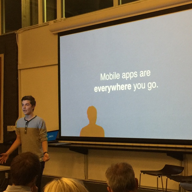""" Mobile apps are everywhere you go "" - Jonathan Ortheden, AppUniverse pitching."