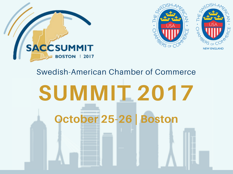 SACC Summit 2017 - SAVE THE DATE - We are very proud and excited to announce to our community that SACC-NE has been selected to co-host this year's SACC Summit in Boston, the birthplace of the United States and symbol of Swedish-American trade! SACC Summit is the country's biggest and most followed Swedish-American event of the year.