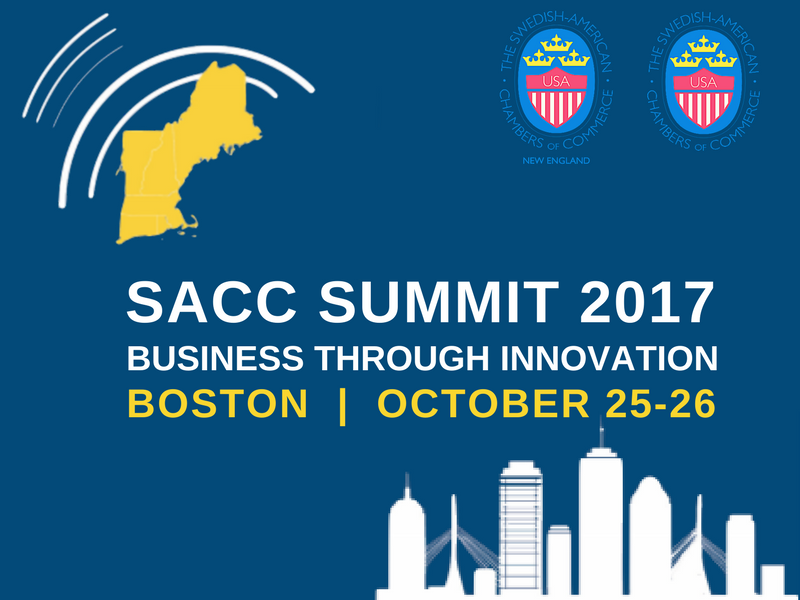 SACC Summit 2017 - GET YOUR TICKET NOW - We are very proud and excited to announce to our community that SACC-NE has been selected to co-host this year's SACC Summit in Boston, the birthplace of the United States and symbol of Swedish-American trade! SACC Summit is the country's biggest and most followed Swedish-American event of the year. SPEAKERS: Mikael Damberg, Minister for Enterprise & Innovation, Torbjörn Holmström, former CTO Volvo and Professor Robert Langer of MIT!