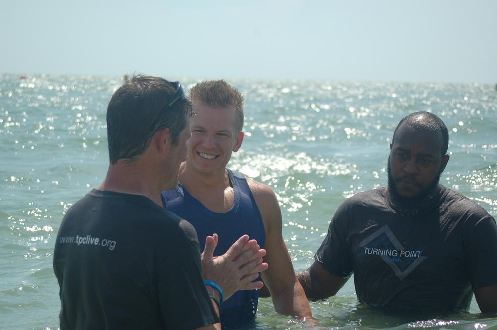 Baptisms @ The Beach! 8 people baptized!