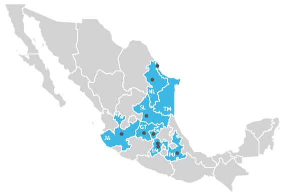 Jaguar Transportation Mexico Terminal Locations