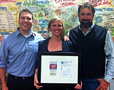 Pemberton CAO Daniel Sailland, Communications Coordinator Jill Brooksbank & Mayor Jordan Sturdy