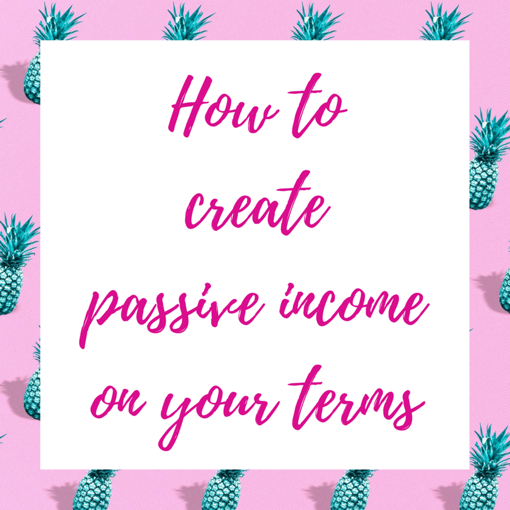How to create passive inceom