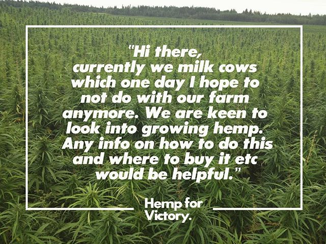 Just one of the growing amounts of emails we are receiving weekly from people wanting to learn more about how to convert their dairy farms into hemp plantations 🌱 The movement has arrived. The time is now. #hempforvictory
