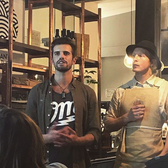 HFV Founder @ednotmed speaking about the environmental benefits of planting hemp alongside @_plantculture Founder @cam.sims at the Plant Culture Pop Up Restaurant last weekend 💪🏽🌱 How long must we wait for radical change in the way we farm the lands of Aotearoa?  With the current state of our rivers, polluted by toxic chemical fertilisers from the dairy industry... The amounts of C02 entering our atmosphere on a daily basis... With the power that hemp has both to mop up environmental toxins from the air and earth, literally restoring minerals to the soil, there is really no more time to waste.  Grow hemp 🌱  #hemprevolution #hempforvictorynz 📷 @javier_bigdaddy
