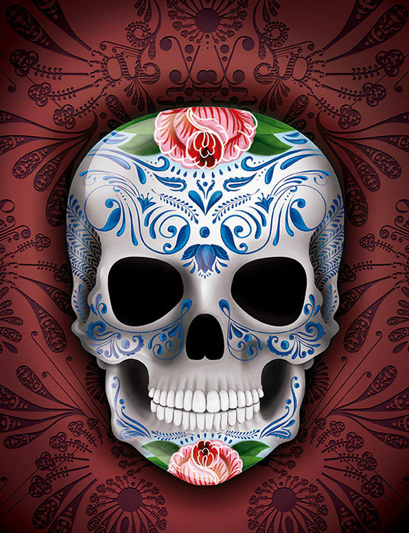 PRETTY SKULL DIGITAL ILLUSTRATION BY LA MONA.jpg