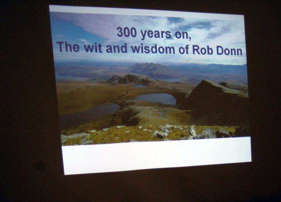 Title of the talk by D.J. Macleod