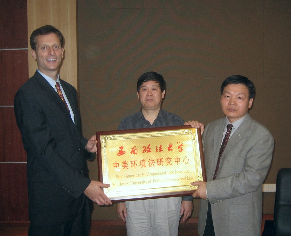 In 2007, my visit to Southwest University of Politics and Law brought in audiences of several hundred students. The gentleman on the right was my host, Cao Mingde, now editor of the China University of Politics and Law's law review and a professor at that most distinguished - and large - school.