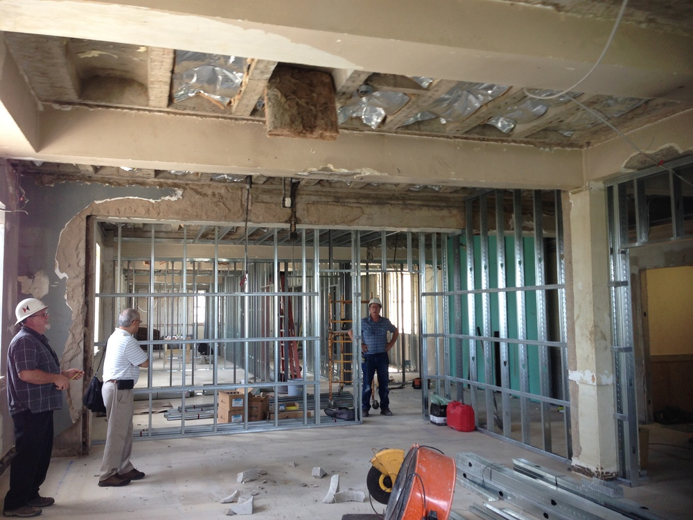 Office Renovation under construction: upstate office renovation — cda interiors