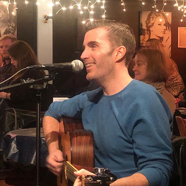 Okay, @bluebirdcafetn—let's do this! — — — Thanks @scottseanwhite for the invitation to join in the round alongside you, @teddyrobb & @jtxrockstar — — — #nashville #songwriter #songwriting #musiccity #originalmusic