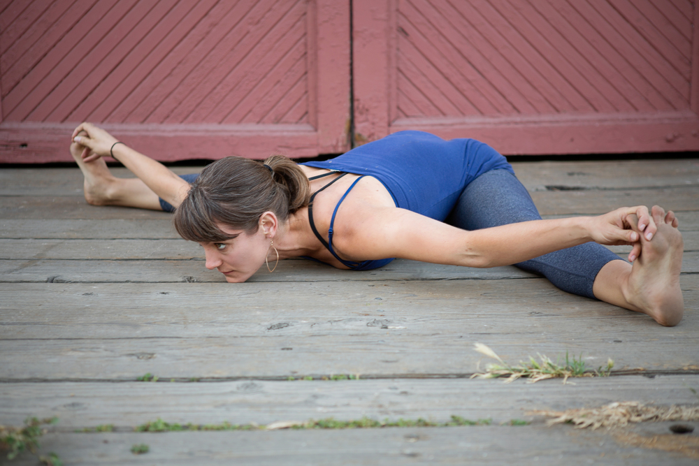 Upavista Konasana  seated angle posture   photo: Margo Jones Duvall