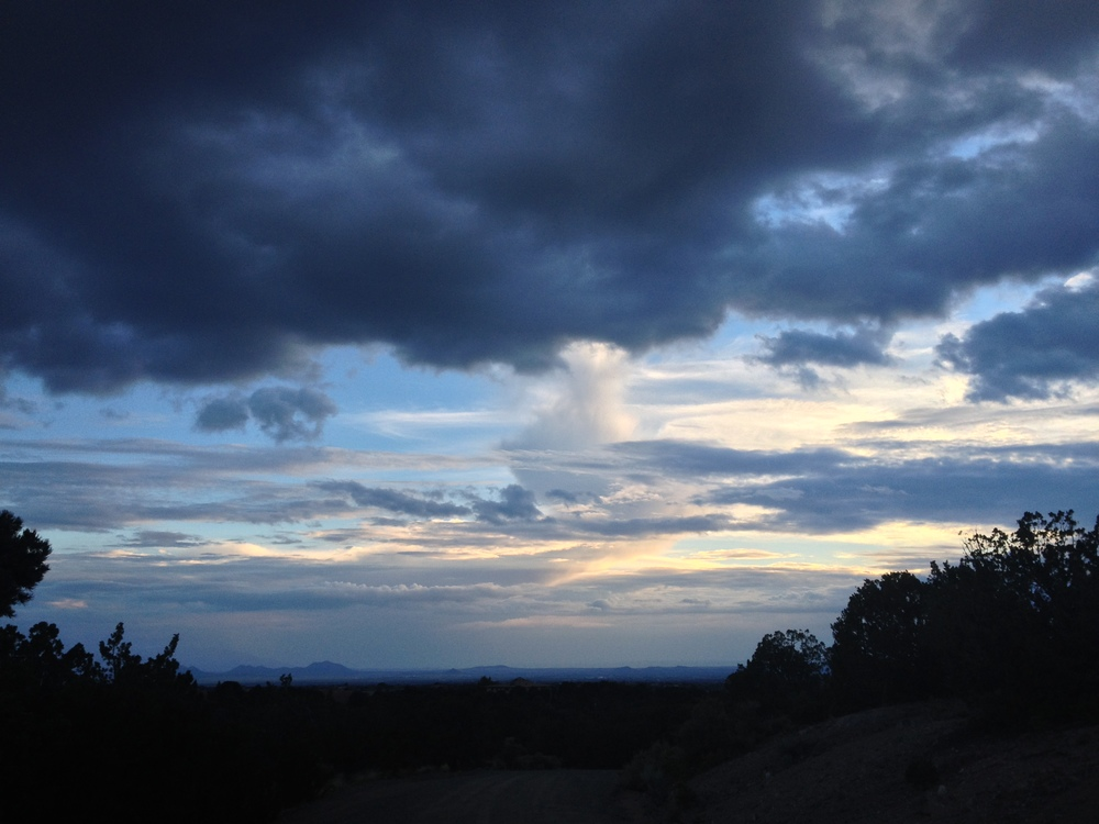 August 2014 summer skies in Santa Fe, NM