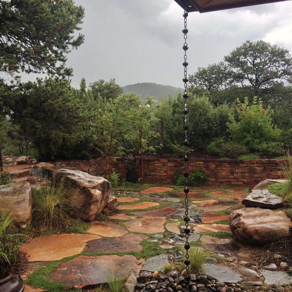 Rain in Santa Fe