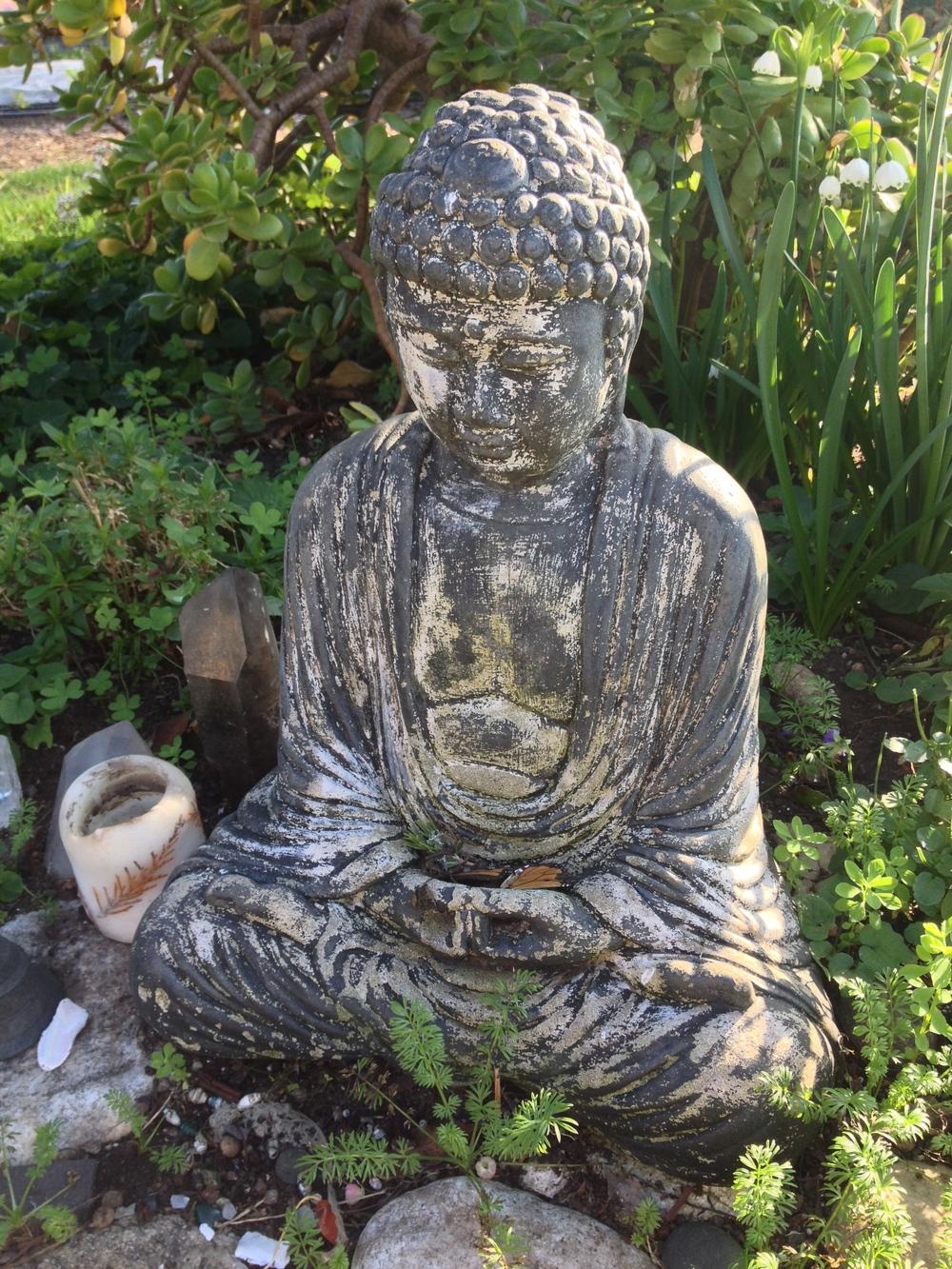 Esalen's garden Buddha