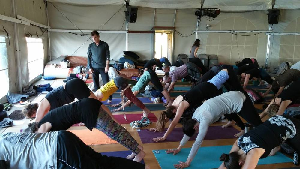 Tias & Djuna provide assistance and hands-on adjustments all throughout asana practice