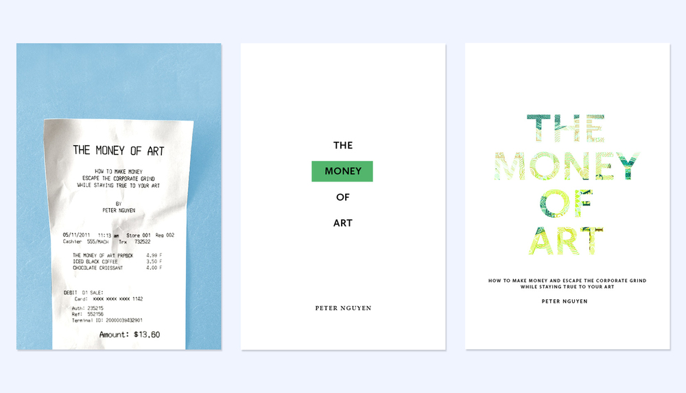 Original cover mockups for  The Money of Art