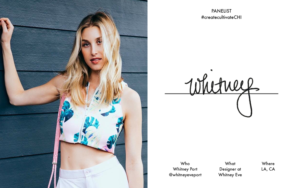 Whitney wearing her Awapuhi crop top, $79, the talk of our #createcultivateLA conference!