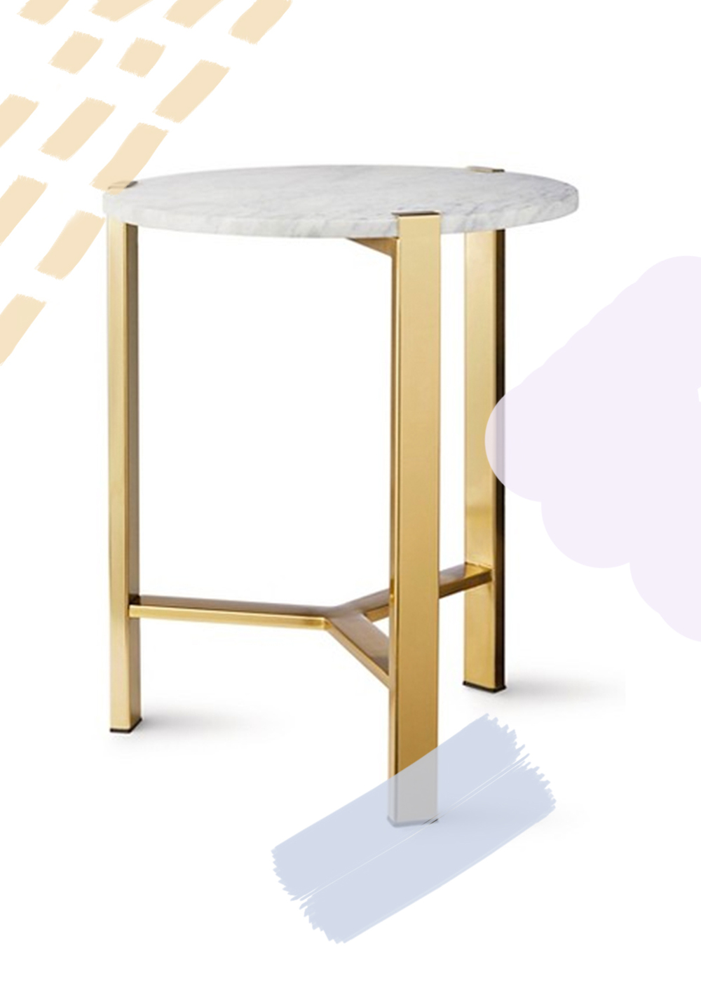 Target - Nate Berkus - Round Gold Accent Table With Marble Top - $89.99