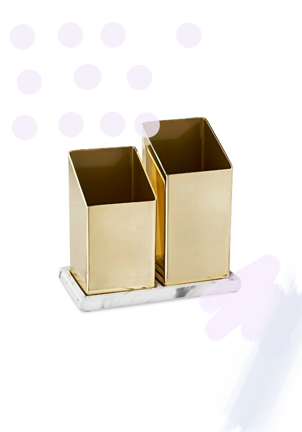 Target - Nate Berkus -  Angled Brass Brush Holder - $9.99