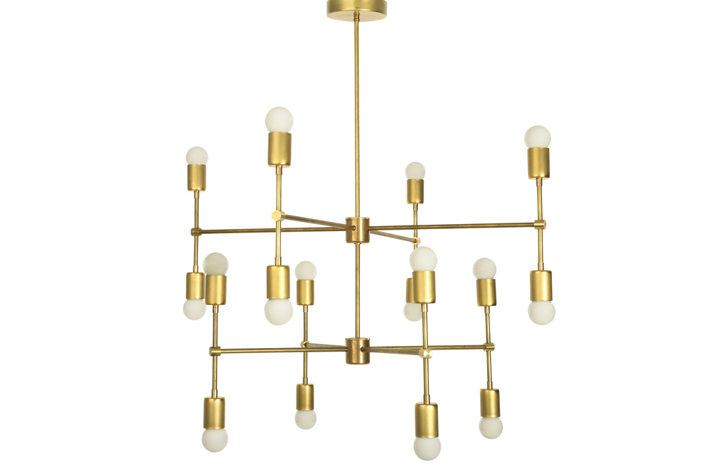 The Sonoma Chandelier , $1300. This chandelier hangs in the Create & Cultivate office.