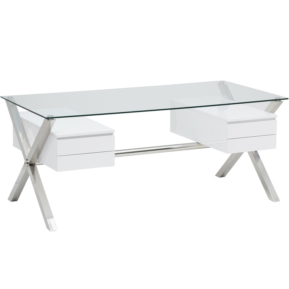 Beverly Large Desk, White, $939.