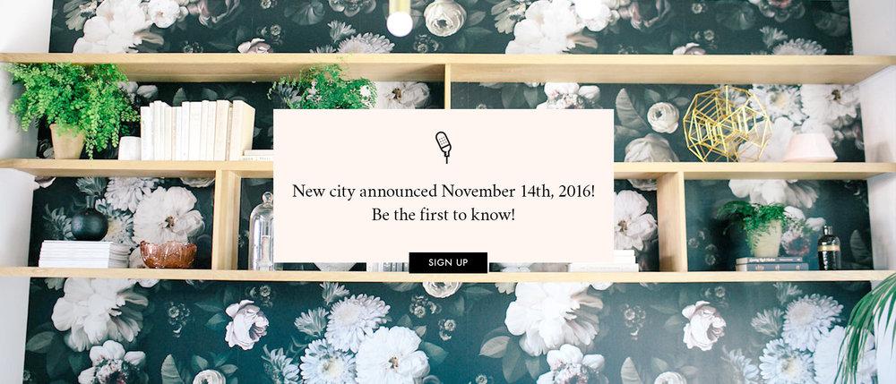 New city announced November 14th!