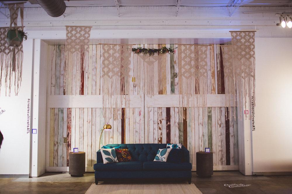 Furniture courtesy of  High Fashion Home , macrame courtesy of  Bermuda Dream .