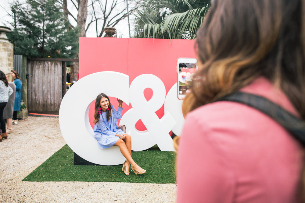 Dress Up Buttercup  fashion blogger Dede Raad loving the big C&C.  Photo credit:  Chelsea Francis