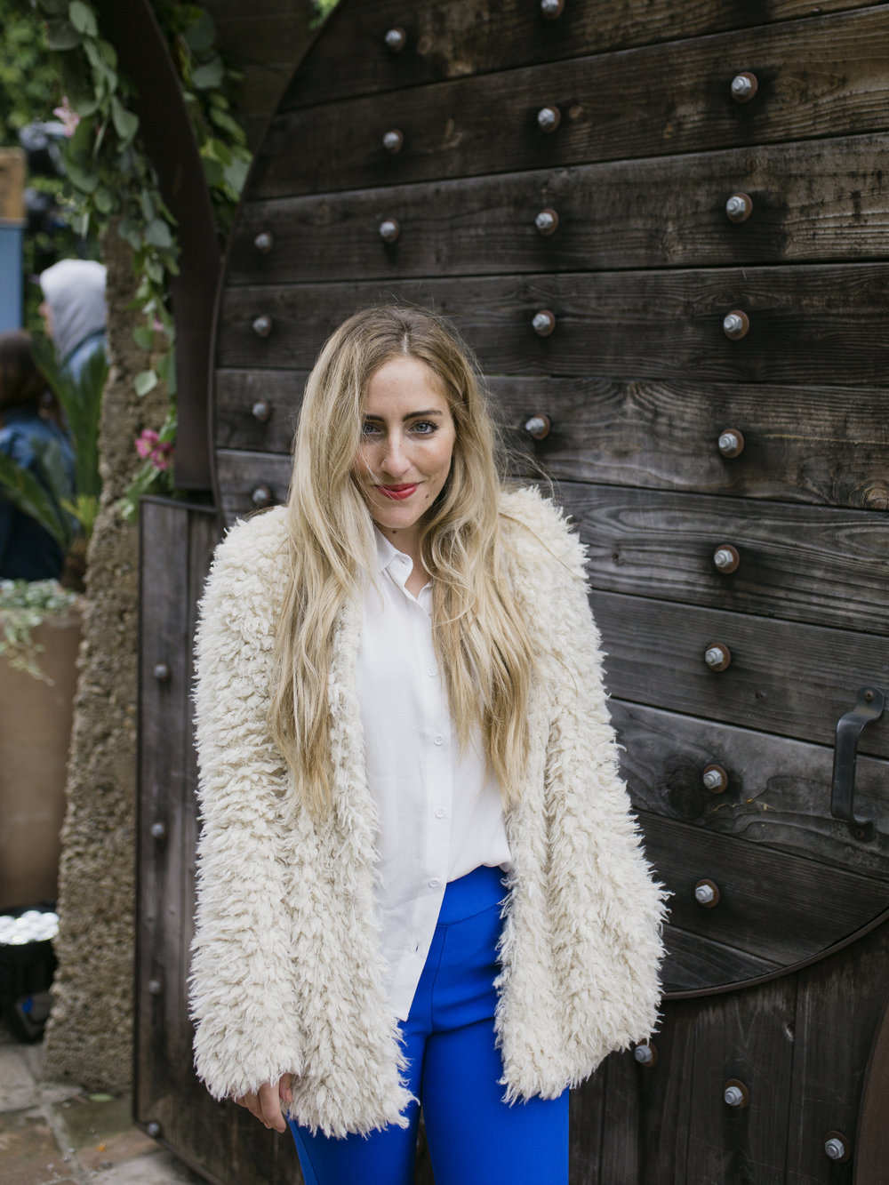Adriana Morfitt, @thegoldatlas ,knows how to dress for the cold.  Photo credit:  Katie Jameson