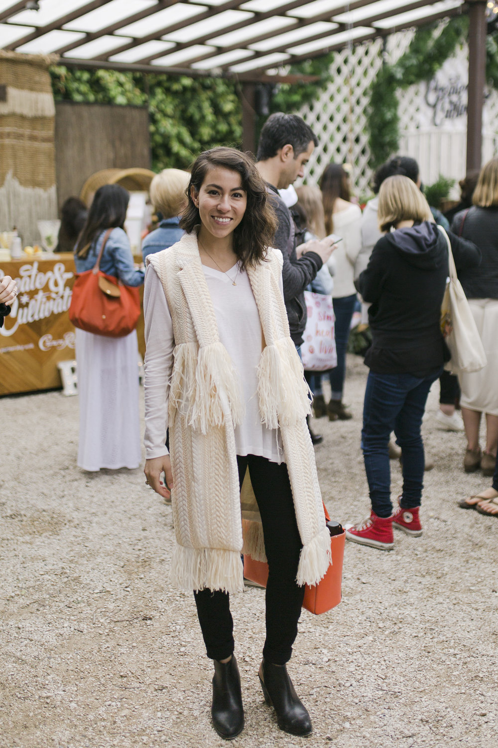 This fringe vest is giving us all of the good vibes from Gaby O'hearn  @everydaygaby   Photo credit:  Katie Jameson