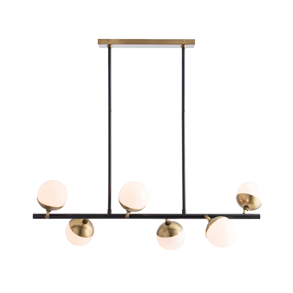 Wahlburg Six Light Linear Chandelier