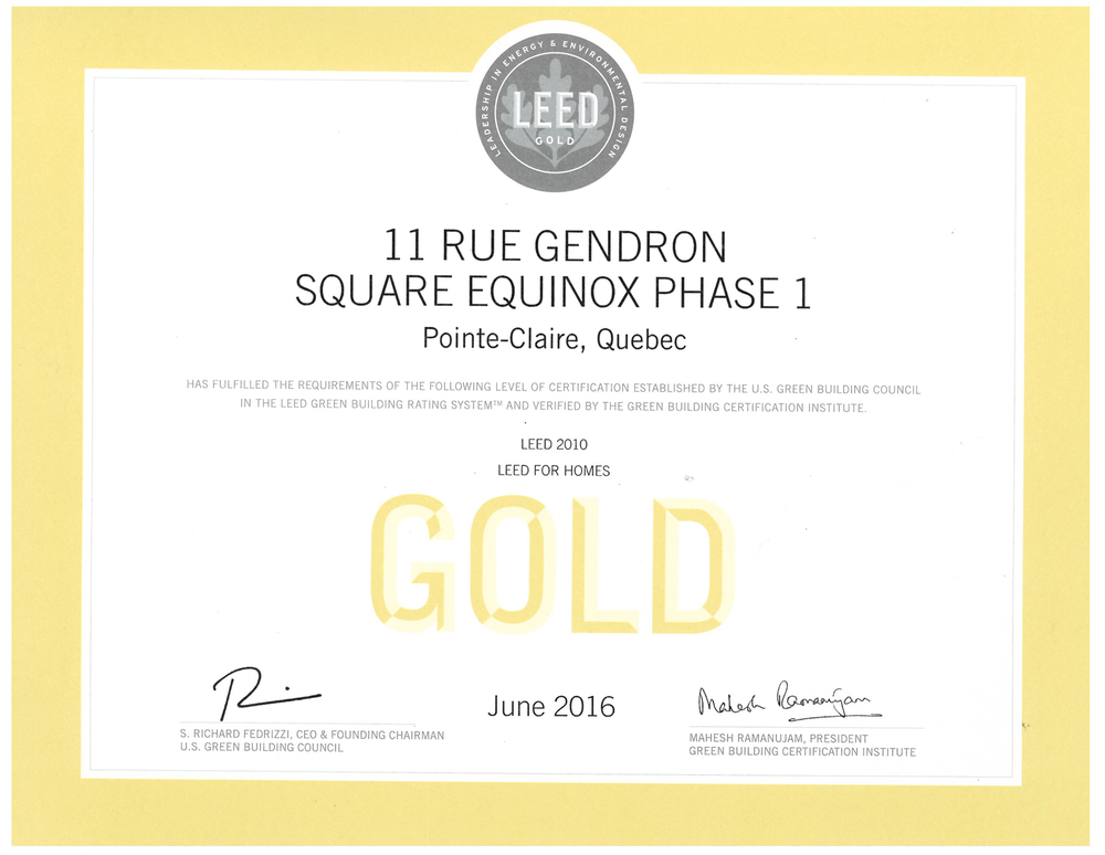 Leed Gold Certification For Square Equinox 1 Sotramont