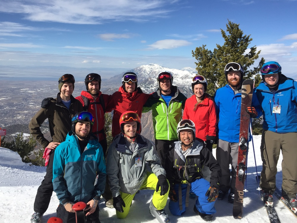 Outdoor and Sports Industry Club members at Snow Basin, UT after the Salt Lake City trek!
