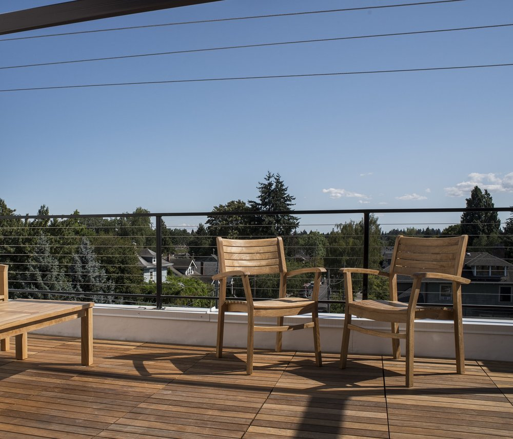 Southeast Portland Apartments Rooftops Deck