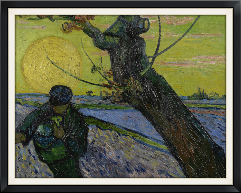 The Sower (Vincent van Gogh, 1888) from the Van Gogh Museum, Amsterdam