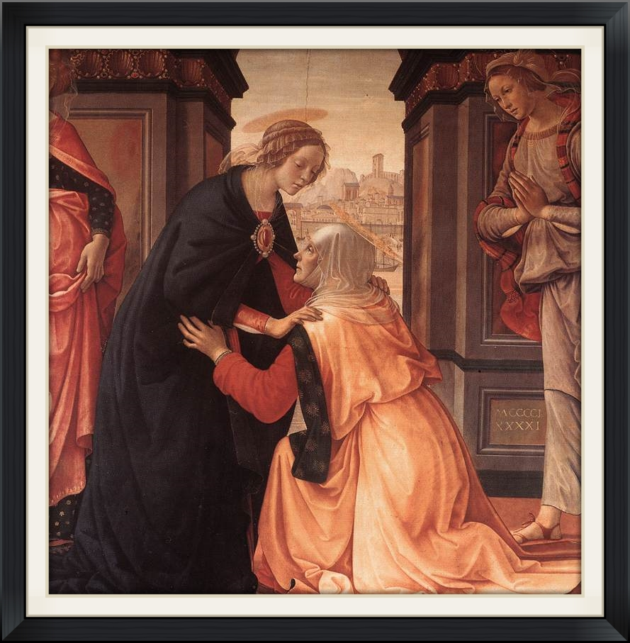 Visitation by Domenico Ghirlandaio (c. 1491), Musée du Louvre, Paris