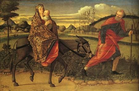 The Flight into Egypt , 1500 by Vittore Carpaccio (1465-1520)