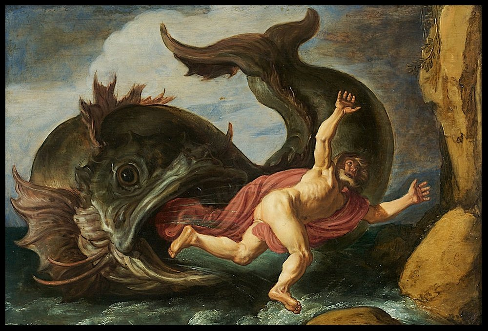 Pieter Lastman (1583-1633), Jonah and the Whale (1621). Oil on oak.