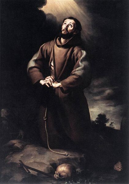 Bartolome Esteban Murillo (1617-1682). St. Francis of Assisi at Prayer (1645-1650), oil on canvas.