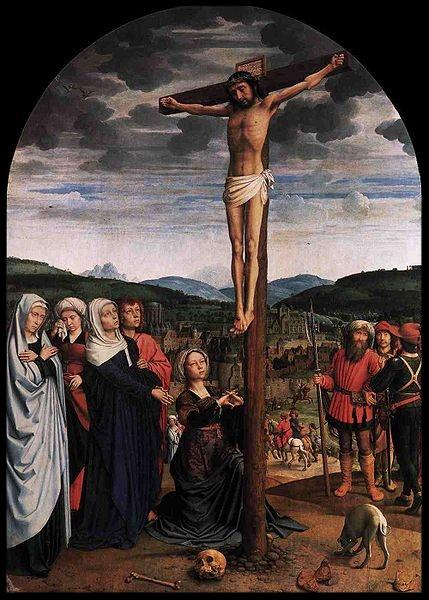 Gerard David (1460-1523),Christ on the Cross,ca. 1515, oil on oak wood.