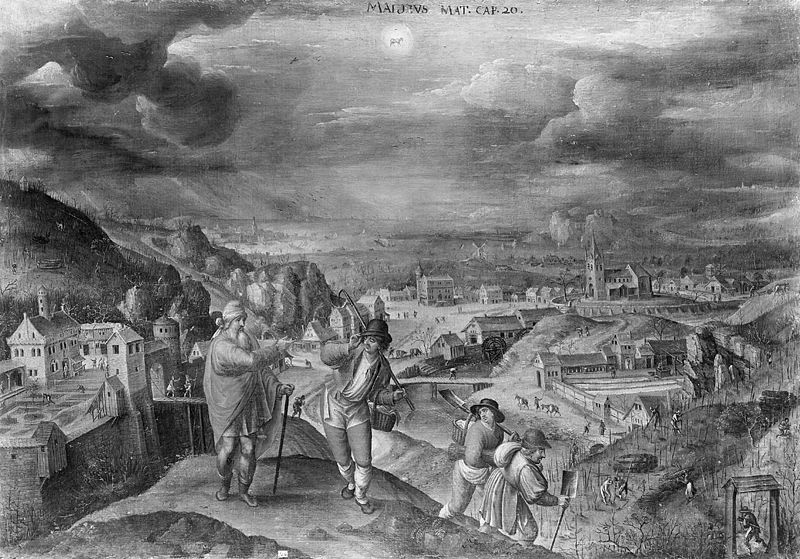 Parable of the Workers in the Vineyard(1580-1590) by Martin van Valkenborch (1535-1612)