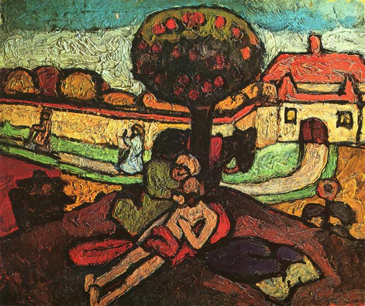 Der barmherzige Sameriter [The Good Samaritan] by Paula Modersohn-Becker (1867-1907)