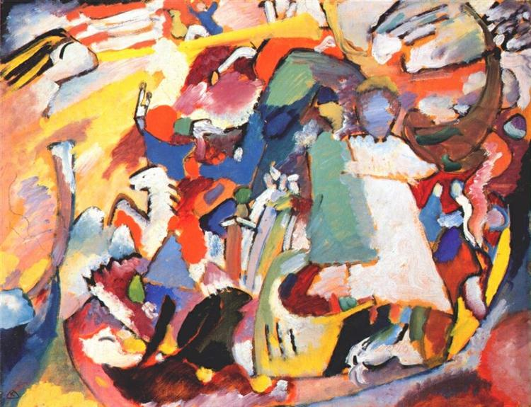 Angel of the Last Judgment,  oil on canvas, by Wassily Kandinsky, 1911