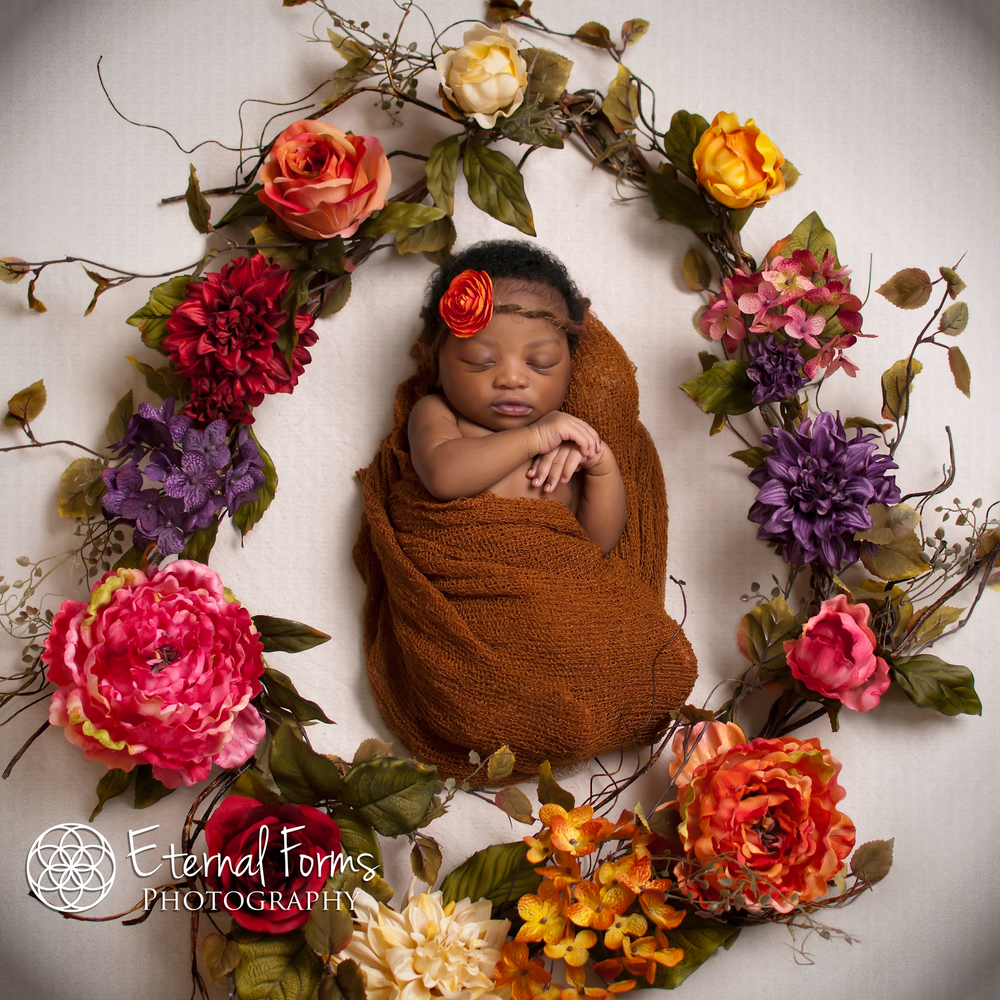 newborn flower wreath