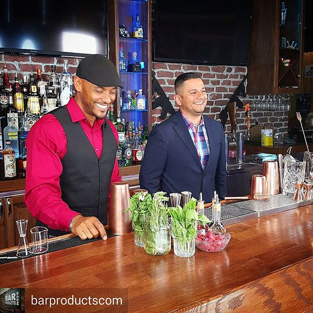 Such a fun day last month hanging with the BarProducts.com Crew... Phil and I on set for photo /video shoot for the release of the New BarProducts.com Craft Cocktail set. Be on the look out, Coming soon... #dowhatyoulove #barculture #craftcocktail #bartools #cocktails #cocktailtraining #bartenderlife #goodtimes #cocktailsanddreams #mixology #mixitup #photoshoot #bar #athirstcalledquest