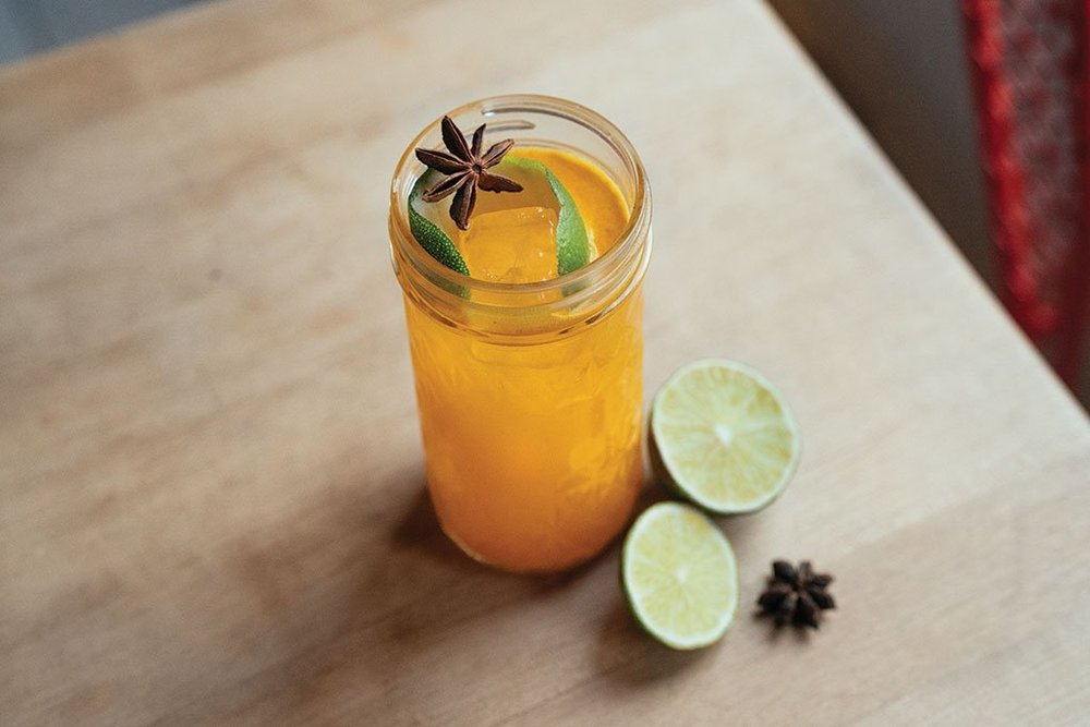 Jonnie Sirotek   Paper Laundry   Call in Denver features function in its turmeric and tonic beverage, served either hot or cold, boozy or not.