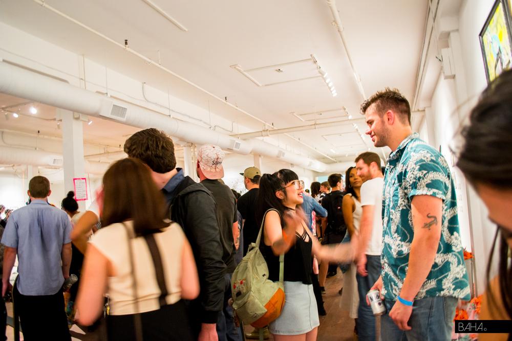 Curator Luke Pelletier and Artist Kristen Liu-Wong