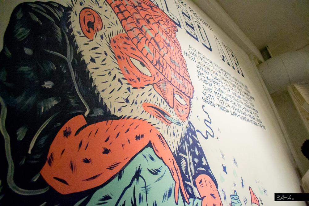 Mural at Entrance by Luke & Austin