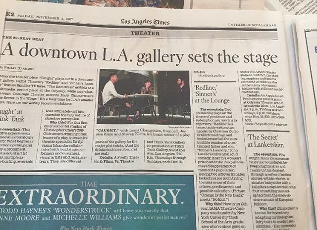 Think this is the first time we've ever been in the Times! Above the fold too. Check the new show #District798  @thinktankdtla