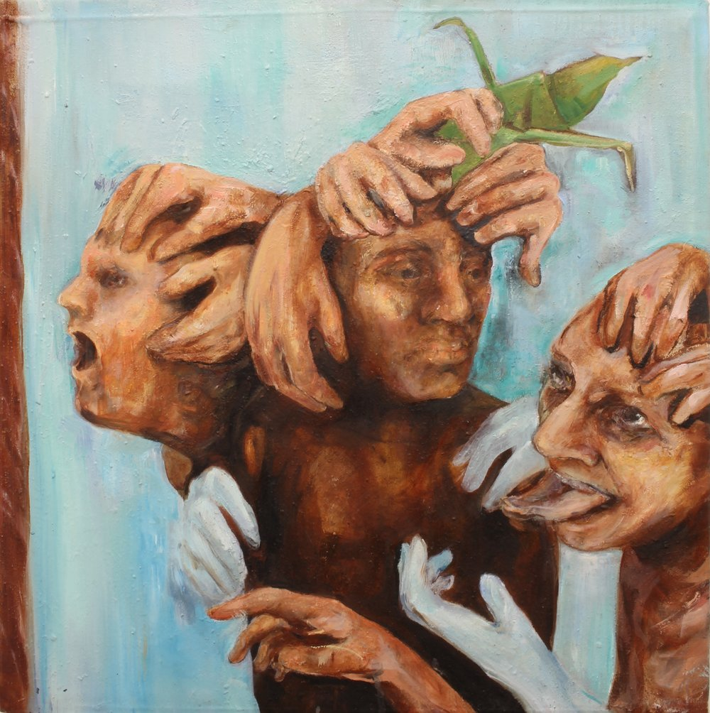 Three Graces. Oil on Canvas. 50 x 50, 2016